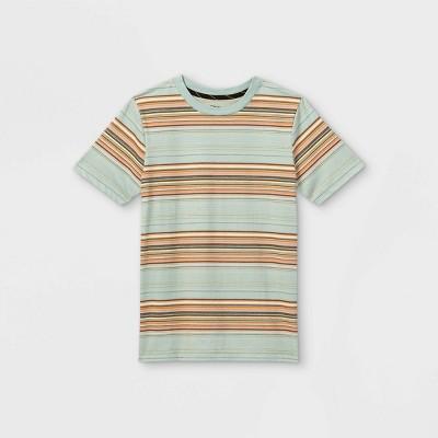 Boys' Striped Short Sleeve T-Shirt - art class™ Blue