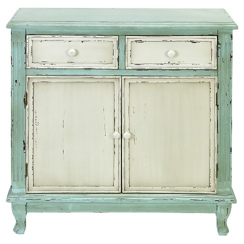 Wood Cabinet With 2 Doors And 2 Drawers - image 1 of 1