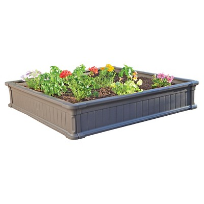 4' x 4' Raised Square Garden Bed - Gray - Lifetime