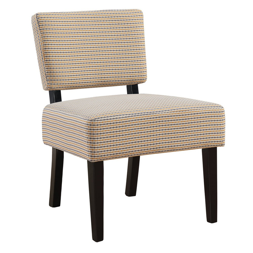 Accent Chair Abstract Dot Fabric Gold/Gray - EveryRoom