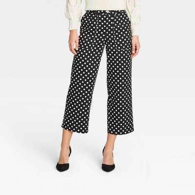 Women's Mid-Rise Regular Fit Wide Leg Pants -Who What Wear™