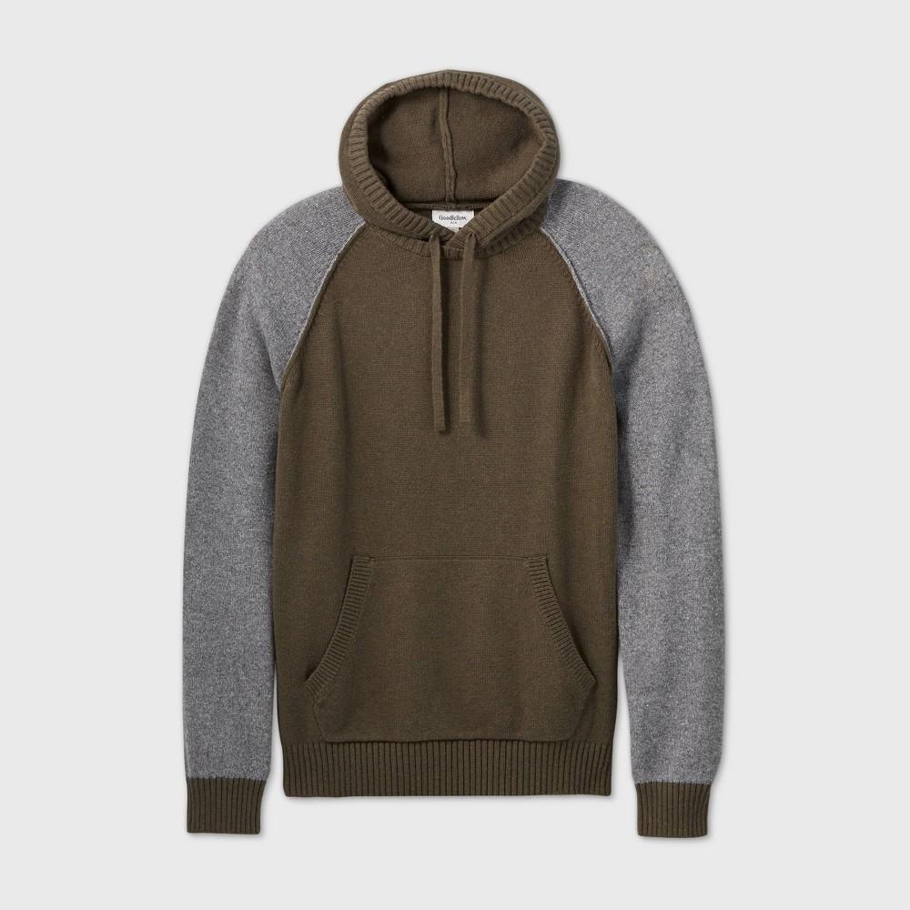 Best Men's Big & Tall Colorblock Regular Fit Hooded Sweater - Goodfellow & Co™