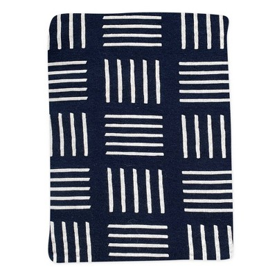 Honest Baby Organic Cotton Fitted Crib Sheet - Sketchy Square