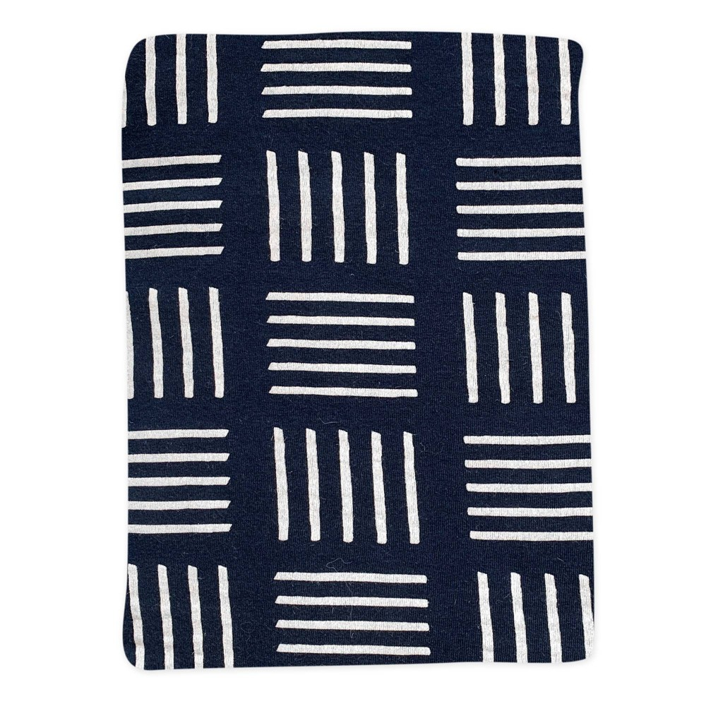Honest Baby Organic Cotton Fitted Crib Sheet Sketchy Square