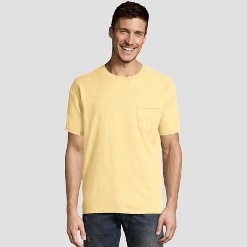 00cc6164cbcd Hanes Men's Short Sleeve 1901 Garment Dyed Pocket T-Shirt - Squash S :  Target