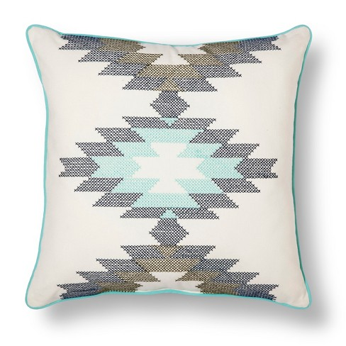 "Southwest Cross-stitch Throw Pillow (18""x18"") - Room Essentials™ - image 1 of 2"