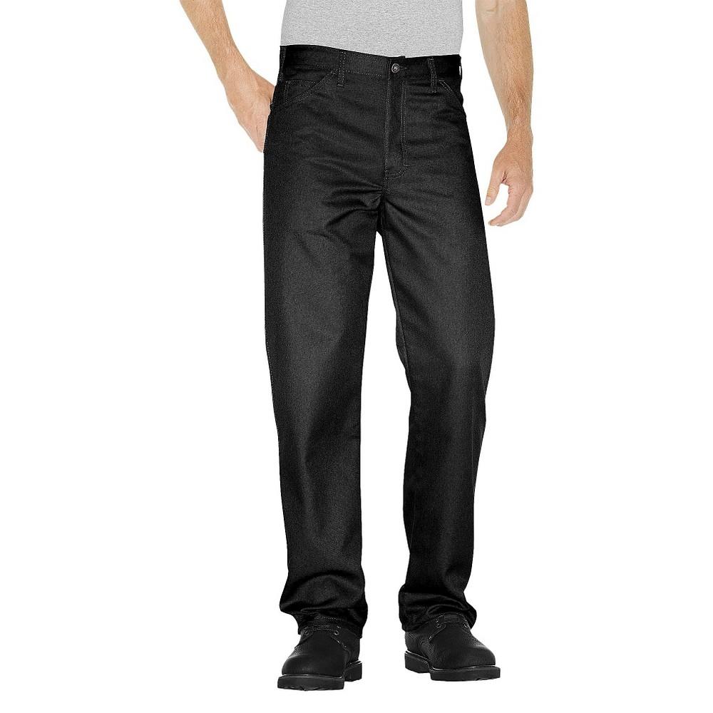 Dickies Men's Regular Straight Fit Twill 5- Pocket StayDark Work Pants- Black 38x34