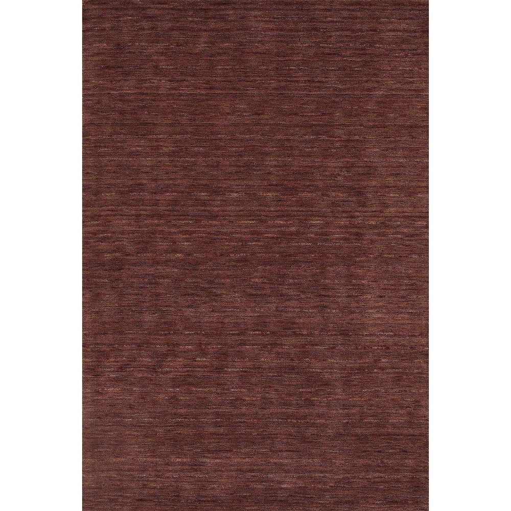 Tonal Solid 100% Wool Accent Rug - Plum (Purple) (3'6