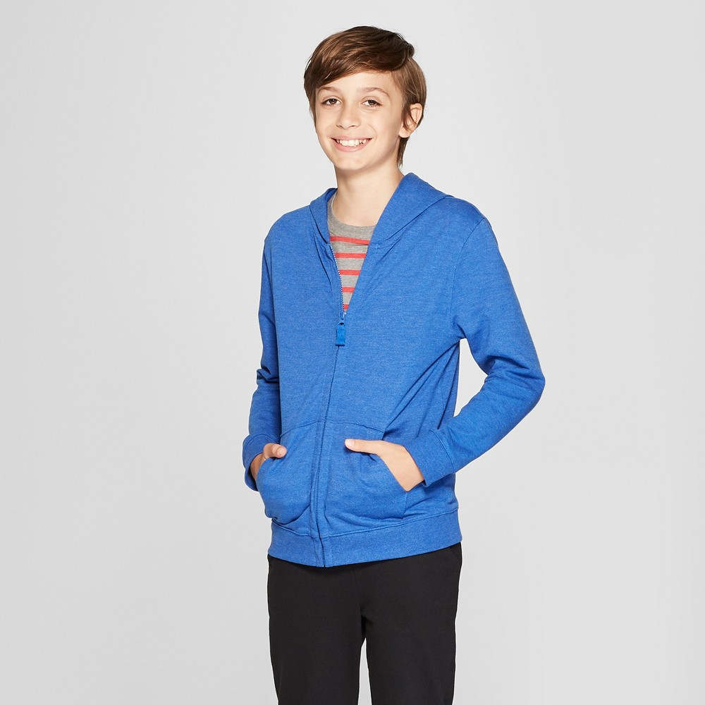 Boys' Long Sleeve Hooded Sweatshirt - Cat & Jack Blue XL