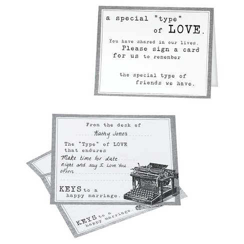 48ct Typewriter Guest Card - image 1 of 1