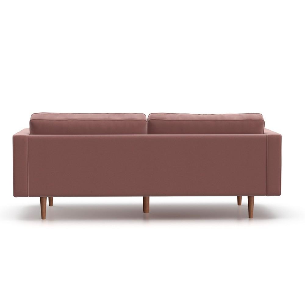 Mae Mid Century Modern Velvet Sofa Blush Pink - AF Lifestlye