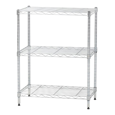 IRIS 3 Tier Metal Wire Shelving Unit Silver - image 1 of 4
