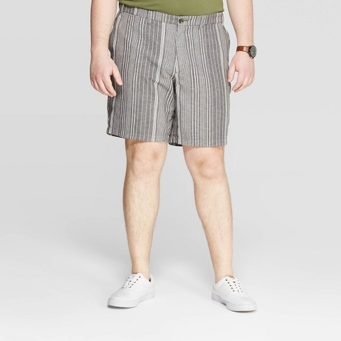 Men's Big & Tall Striped Chino Shorts - Goodfellow & Co™ - image 1 of 3