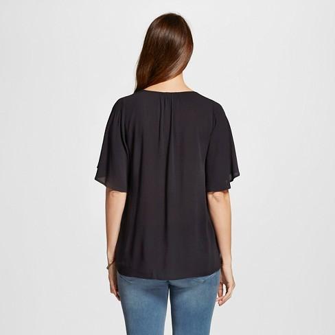 46ba1781e9785 Maternity Blouse Black L - Liz Lange® For Target : Target