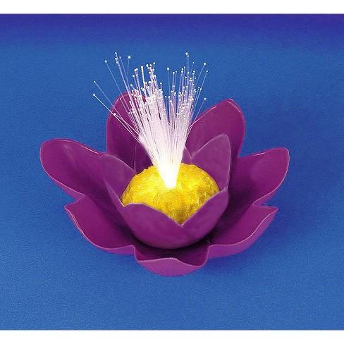 Swimline Battery Operated Fiber Optic Floating Lily Flower Swimming Pool  Light 7\