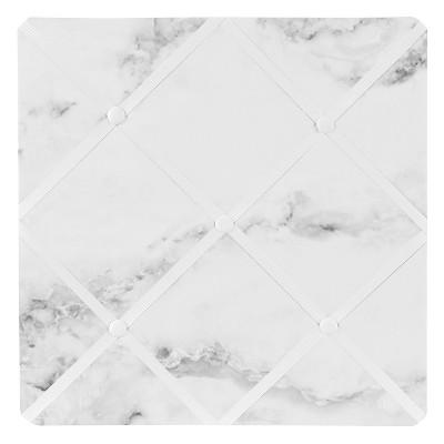 Marble Photo Memo Board (13x13) Black & White - Sweet Jojo Designs