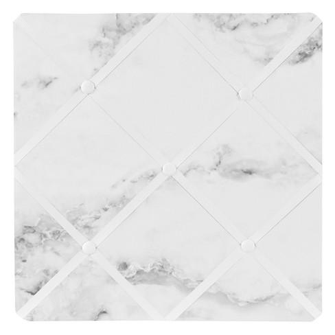 Marble Photo Memo Board (13x13) Black & White - Sweet Jojo Designs - image 1 of 2