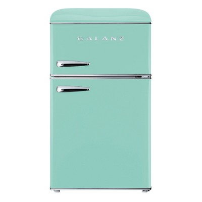 Galanz Retro 3.1 cu ft True Freezer Dual-Door Refrigerator