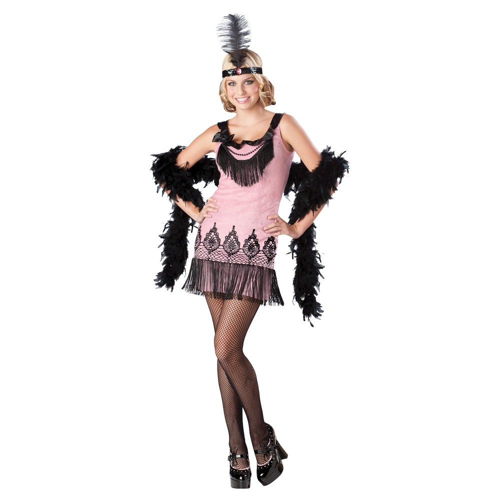 Image of Halloween Women's Flirty Flapper Costume - Large, MultiColored