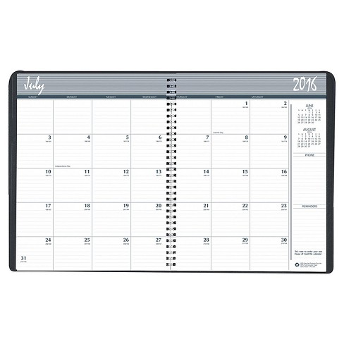 "House of Doolittle™ Academic Ruled Monthly Planner, 8.5"" x 11"", 2016-2017 - Black - image 1 of 5"