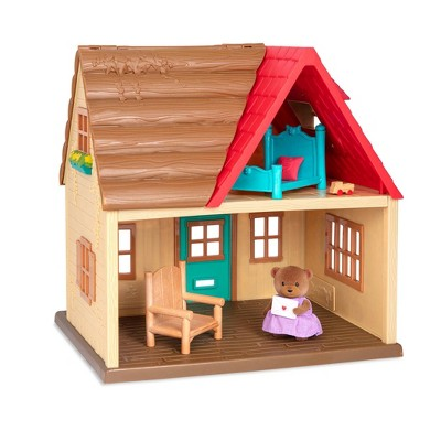 Li'l Woodzeez Country House – 8pc Toy House Playset