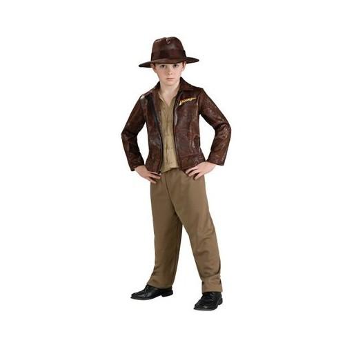 Halloween Indiana Jones Kids' Deluxe Costume Small (4-6), Men's, Green