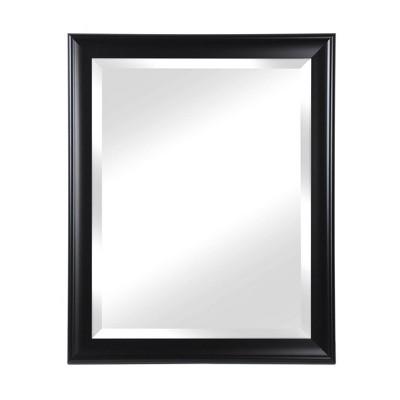 "28"" x 34"" Symphony Deep Black Framed Beveled Glass Wall Mirror - Alpine Art and Mirror"