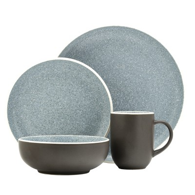 16pc Stoneware Tailor Dinnerware Set Blue - Sango