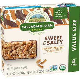 Cascadian Farms Pretzel Granola Bars - 8ct