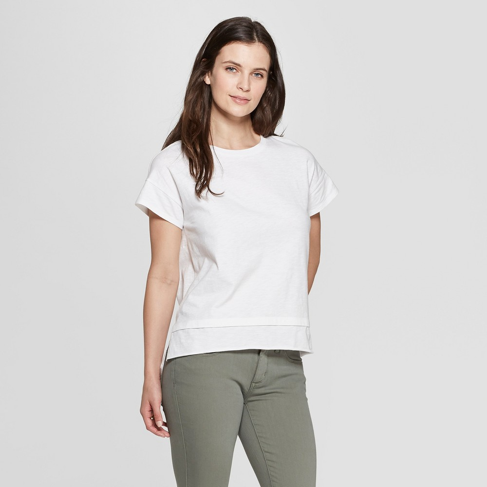 Women's Short Sleeve Crewneck Double Hem Relaxed T-Shirt - Universal Thread White Xxl