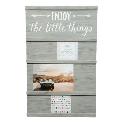 Multiple Image Greywash Little Things Sliding Photo Collage Frame - Gallery Solutions