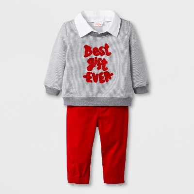 0a7eef2a1 Baby Boys  2pc French Terry Sweatshirt And Twill...   Target