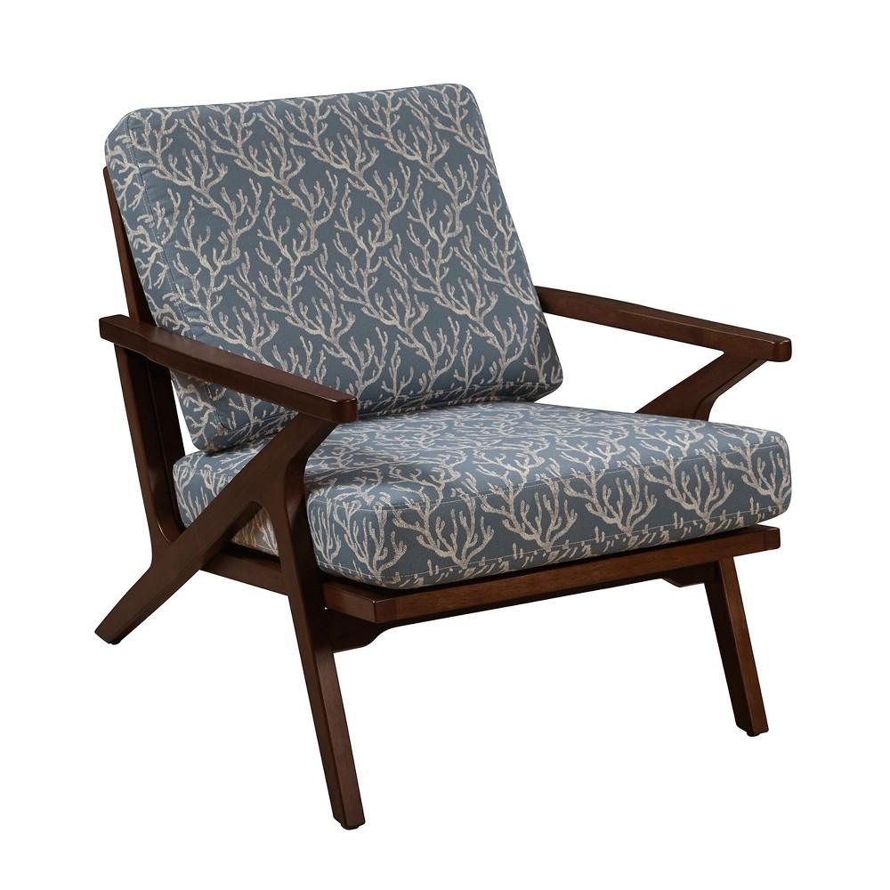 Sterling Rain Wood Accent Arm Chair - Blue - Pulaski