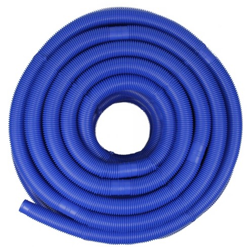 "Pool Central Blow-Molded PE In-Ground Swimming Pool Cuttable Vacuum Hose 147.5' x 1.25"" - Blue - image 1 of 3"