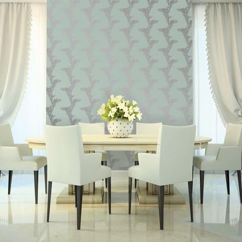 Devine Color Vine Floral Horizon & Sterling Wallpaper - image 1 of 3
