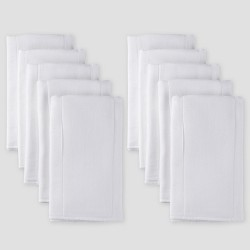 Gerber Baby Organic Cotton 10pk Prefold Gauze Diaper with Absorbent Pad - White One Size