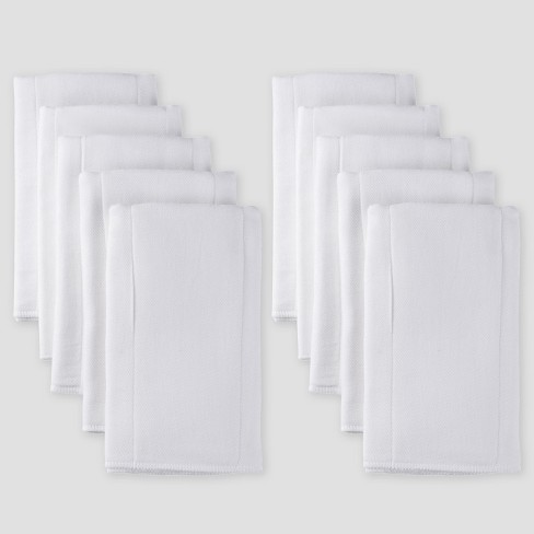 Gerber Baby Organic Cotton 10pk Prefold Gauze Diaper with Absorbent Pad - White One Size - image 1 of 3