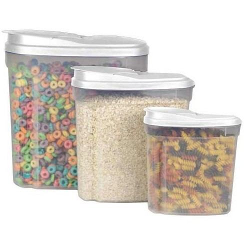 Home Basics 3 Piece Plastic Cereal Container - image 1 of 4