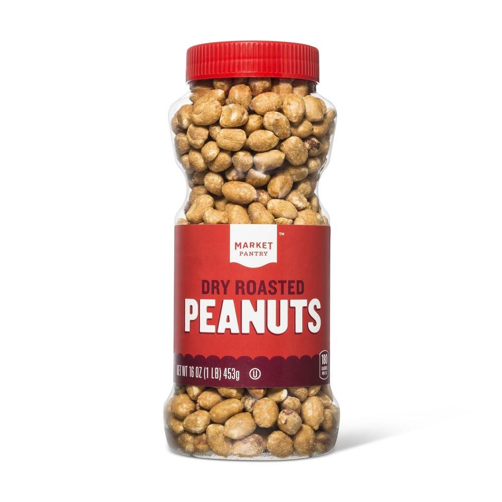 Dry Roasted Salted Peanuts - 16oz - Market Pantry