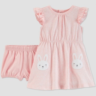 Baby Girls' Bunny Dress Set - Just One You® made by carter's Pink Newborn