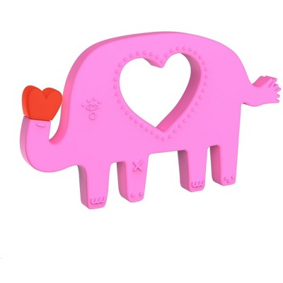 Manhattan Toy Animal Shapes Elephant Silicone Teether