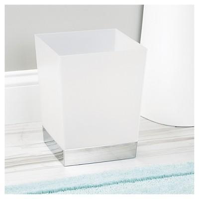 Incroyable Square Bathroom Wastebasket Frost/Chrome   IDESIGN : Target