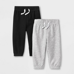 Baby Boys' Jogger Pants - Cat & Jack™ Black/Gray