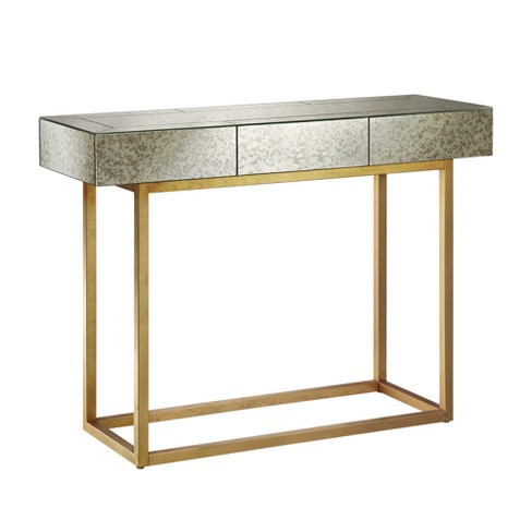 Harper Console Table - Mirror/Gold - image 1 of 4