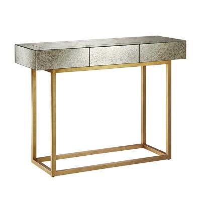 Harper Console Table   Mirror/Gold