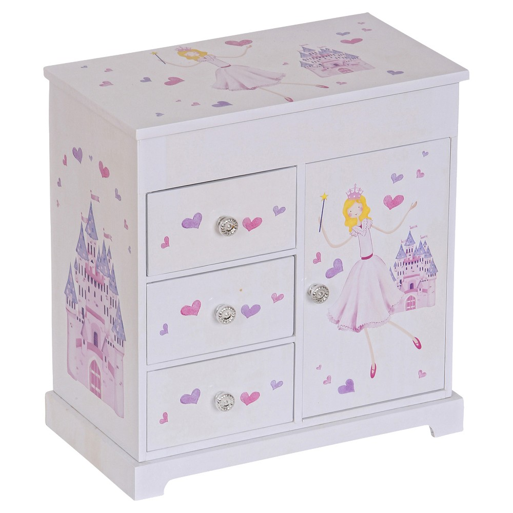 Image of Mele & Co. Adalyn Girls' Musical Ballerina Jewelry Box-White, Girl's, Size: Small