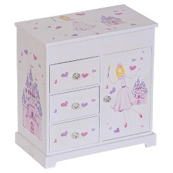 Mele & Co. Adalyn Girls' Musical Ballerina Jewelry Box-White