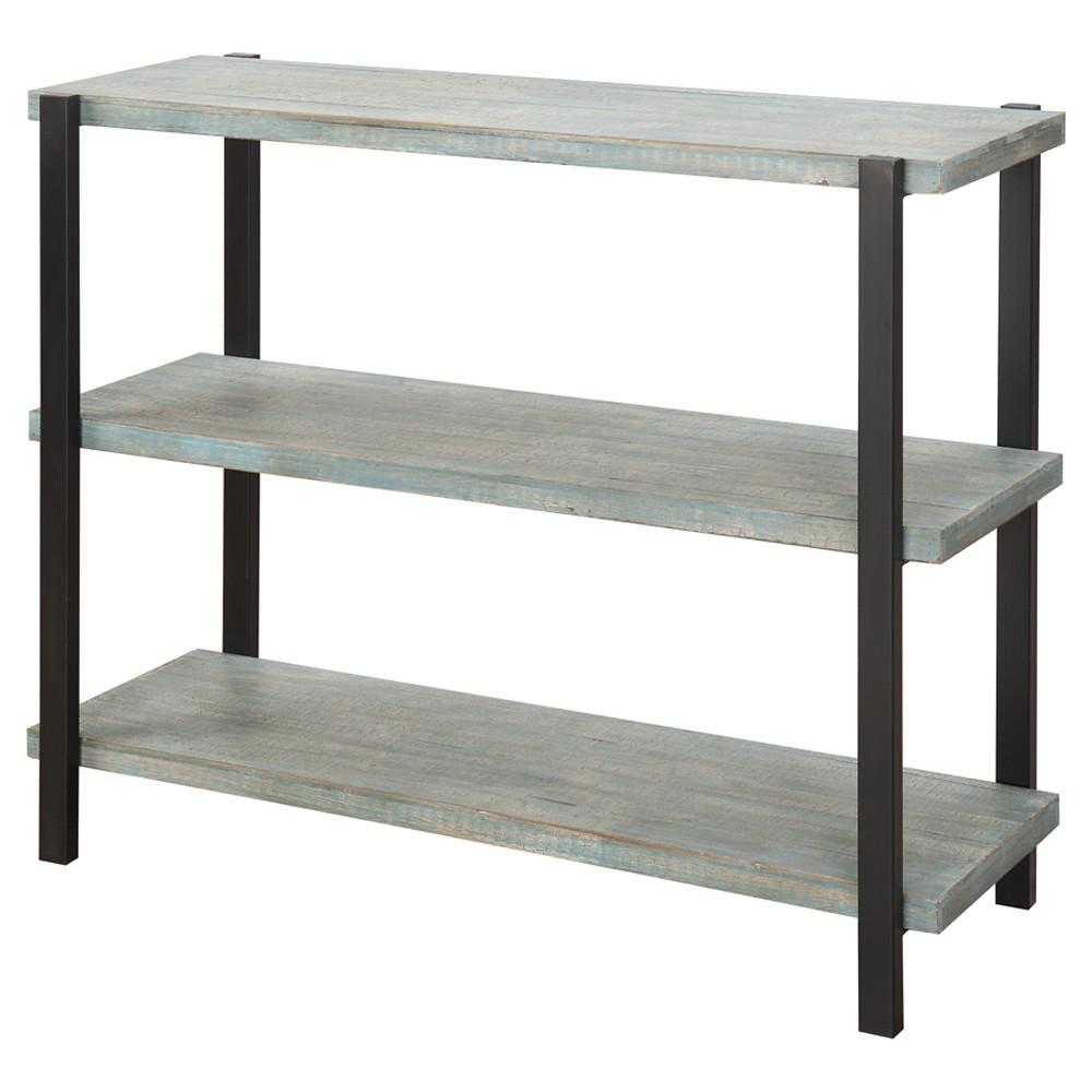 Decorative Bookshelf 35.5 Blue & Black - Convenience Concepts