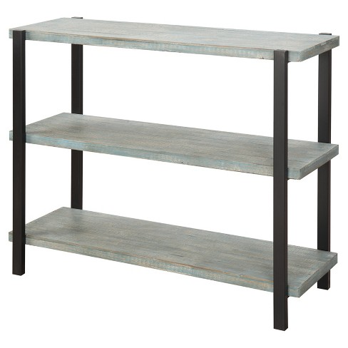 "Decorative Bookshelf 35.5"" Blue & Black - Convenience Concepts® - image 1 of 4"