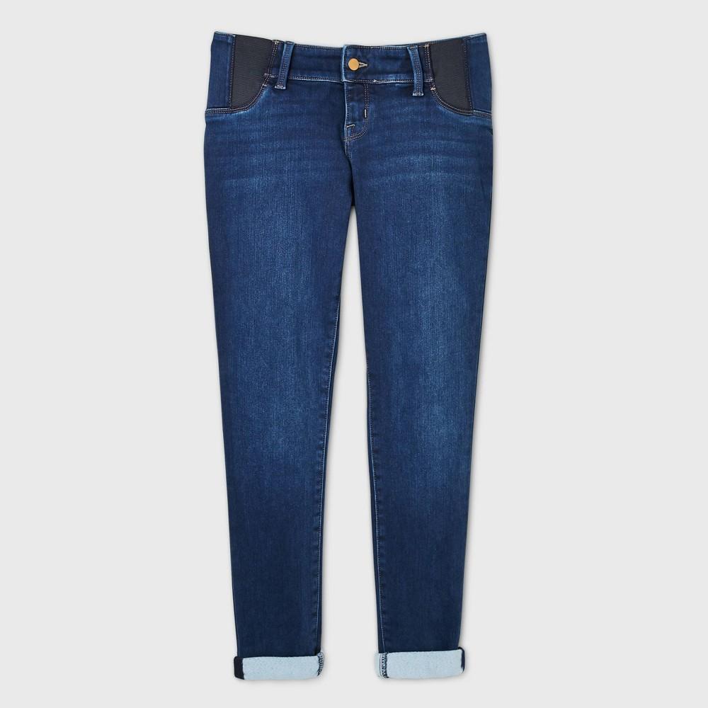 Maternity Side Panel Brushed Back Skinny Jeans Isabel Maternity By Ingrid 38 Isabel 8482 Blue Dusk 8